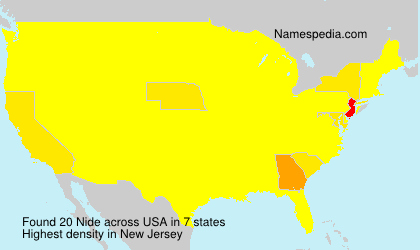 Surname Nide in USA
