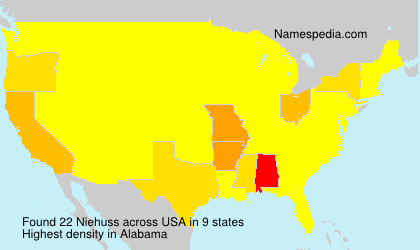 Surname Niehuss in USA