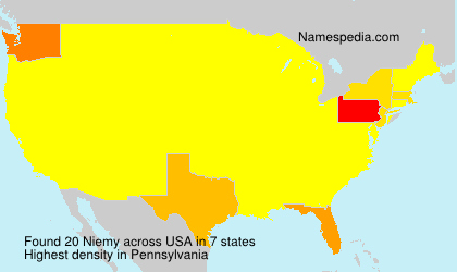 Surname Niemy in USA