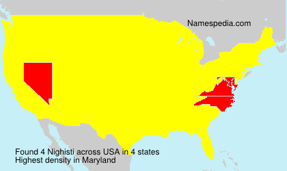 Surname Nighisti in USA