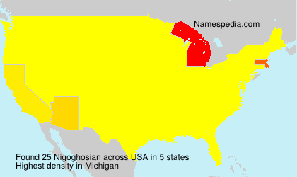 Surname Nigoghosian in USA