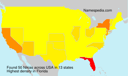 Surname Nikias in USA