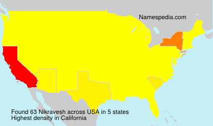 Surname Nikravesh in USA
