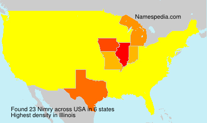Surname Nimry in USA
