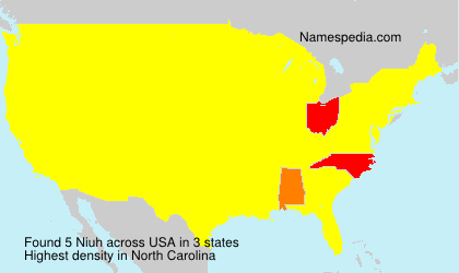 Surname Niuh in USA