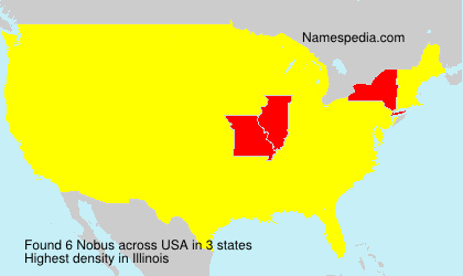Surname Nobus in USA