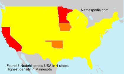 Surname Nodehi in USA