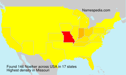 Surname Noelker in USA