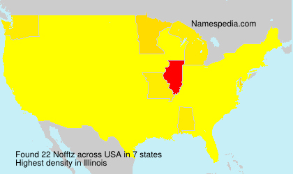 Surname Nofftz in USA