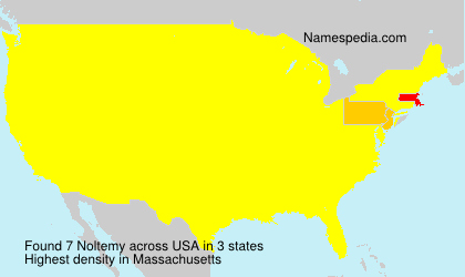 Surname Noltemy in USA