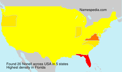 Surname Nonell in USA
