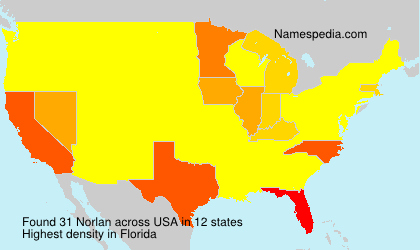 Surname Norlan in USA