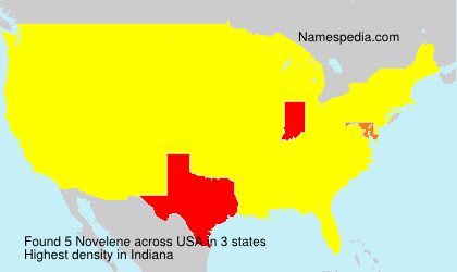 Surname Novelene in USA