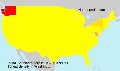Surname Nshom in USA