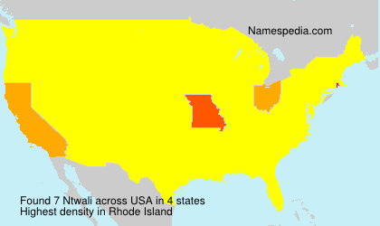 Surname Ntwali in USA