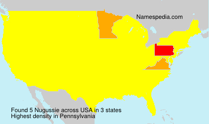 Surname Nugussie in USA