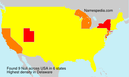Surname Nuli in USA