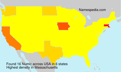 Surname Numic in USA