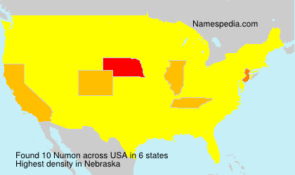 Surname Numon in USA