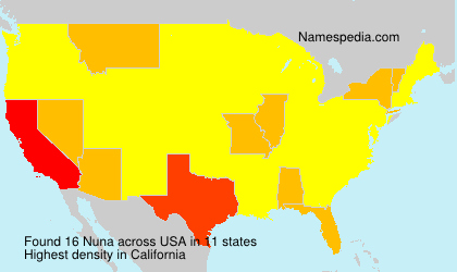 Surname Nuna in USA