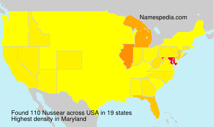 Surname Nussear in USA