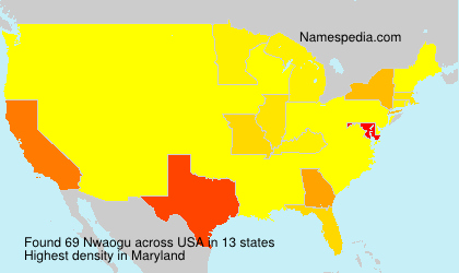 Surname Nwaogu in USA