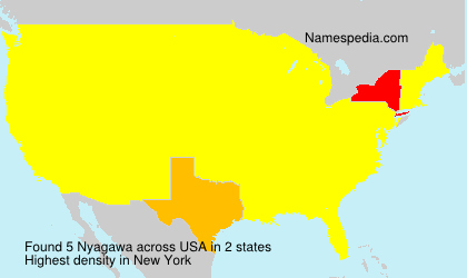 Surname Nyagawa in USA