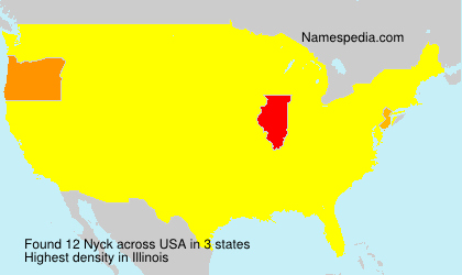 Surname Nyck in USA