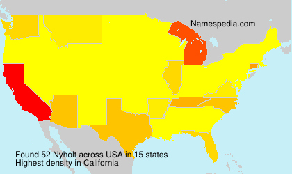 Surname Nyholt in USA