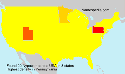 Surname Nypower in USA