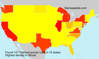 Surname Oakford in USA