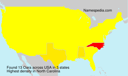 Surname Oara in USA
