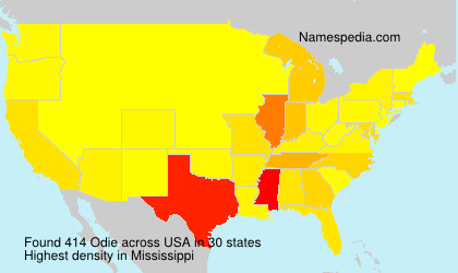 Surname Odie in USA