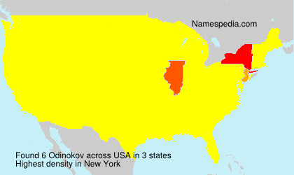 Surname Odinokov in USA