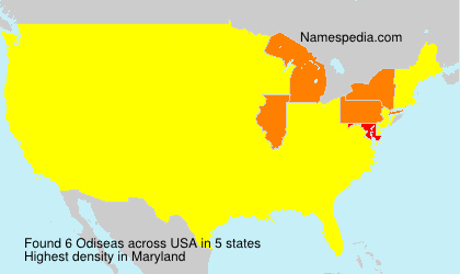 Surname Odiseas in USA