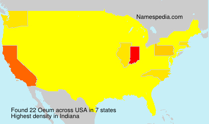 Surname Oeum in USA
