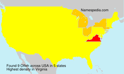 Surname Offeh in USA