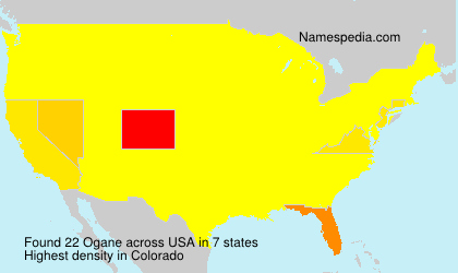 Surname Ogane in USA