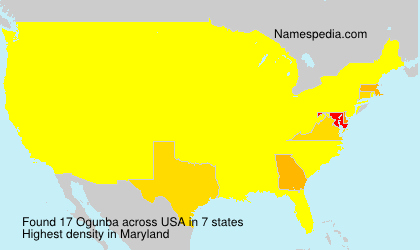 Surname Ogunba in USA