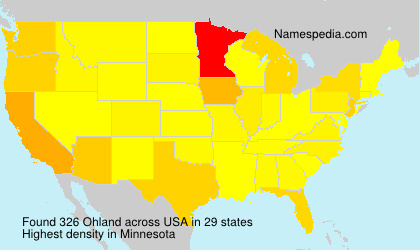 Surname Ohland in USA