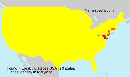 Surname Ojeabulu in USA