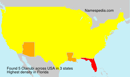 Surname Olanubi in USA