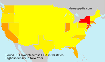 Surname Olivadoti in USA