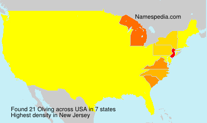 Surname Olving in USA