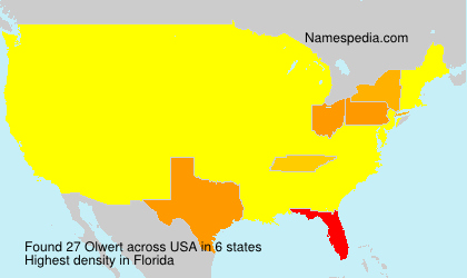 Surname Olwert in USA