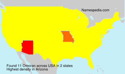 Surname Omoran in USA