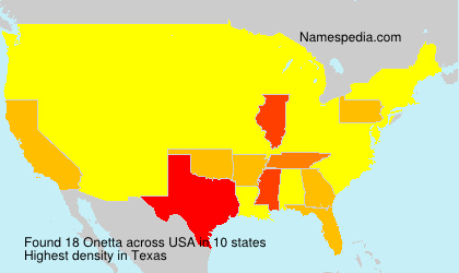 Surname Onetta in USA