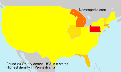 Surname Onufry in USA
