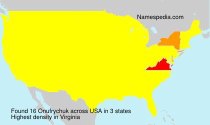 Surname Onufrychuk in USA