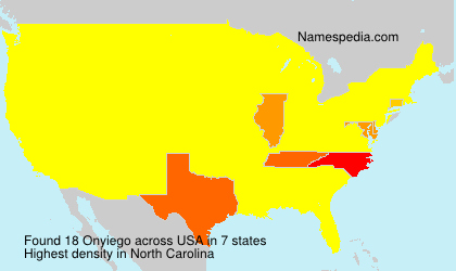 Surname Onyiego in USA